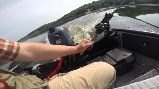 Repeat youtube video porta-bote with Yamaha 6 hp first run