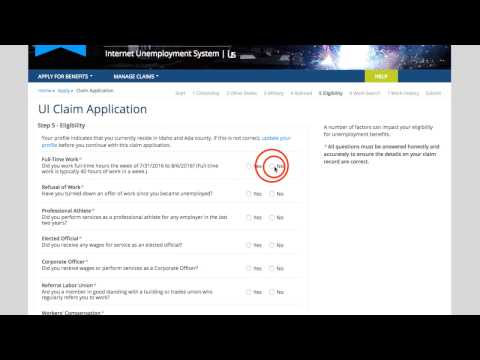 Filing the Claim Application - Screen-by-Screen