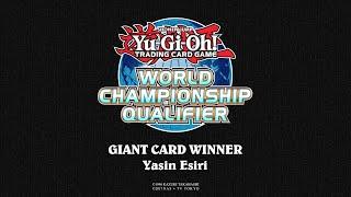 2018 WCQ: European Championship - Giant Card Winner - Yasin Esiri thumbnail