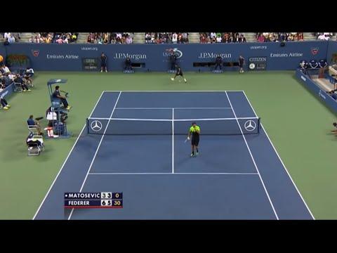 US Open 2014 - Federer vs Matosevic