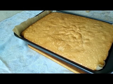 Вопрос: Как приготовить бисквитный торт?