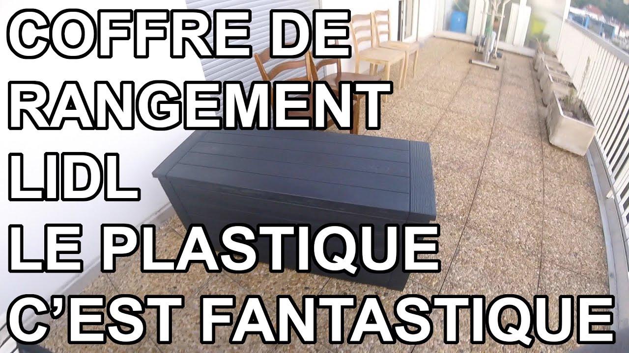 Coffre De Rangement Exterieur Lidl Florabest Youtube