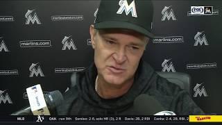 Don Mattingly -- Miami Marlins at Los Angeles Dodgers 04/23/18