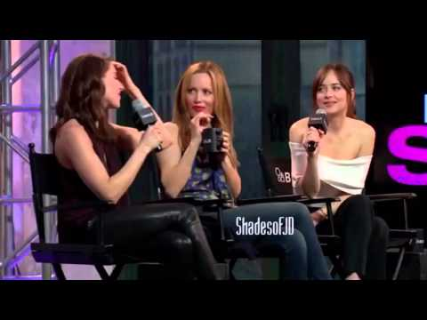 """How to be single"" - Dakota Johnson, Leslie Mann and Alison Brie at AOL Build in NYC"
