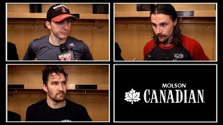 The Sens speak postgame about the trade of teammates Dion Phaneuf a...