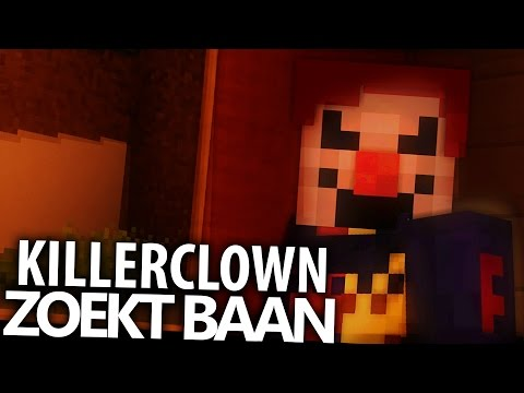 KILLERCLOWN ZOEKT BAAN! Minecraft Sketch