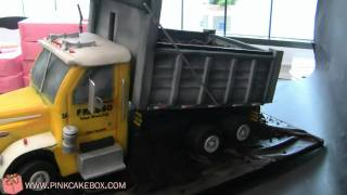 Dump Truck Groom's Cake