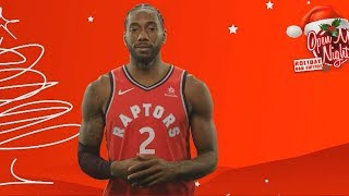 Kawhi Leonard Tries To Be Human & Tells A Joke Then Shuts Down Christmas Question!