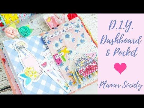 Easy DIY Traveler's Notebook Pocket and Dashboard - Planner Society