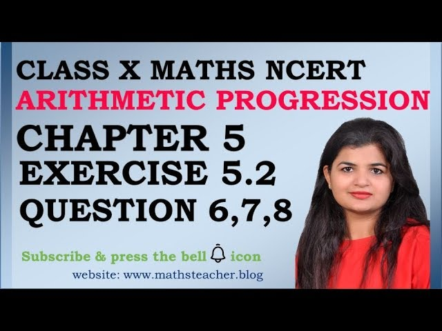 Chapter 5 Arithmetic Progression Ex 5.2 Q6 Q7 Q8 class 10 Maths
