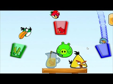 Angry Birds Drink Water 2 - TEAM COLOR BIRDS SHOOTING SKILL GAME