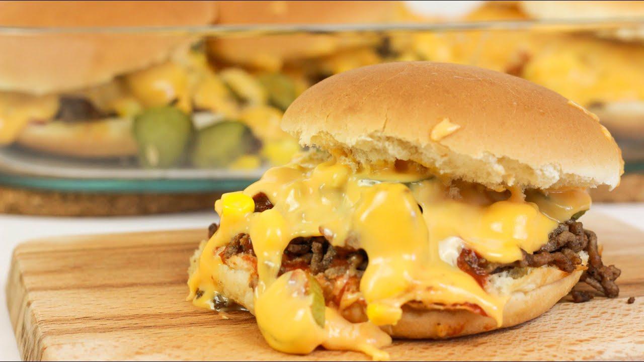 burger auflauf hamburger auflauf cheeseburger im backofen youtube. Black Bedroom Furniture Sets. Home Design Ideas