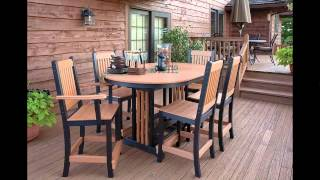 PLASTIC GARDEN TABLES AND CHAIRS