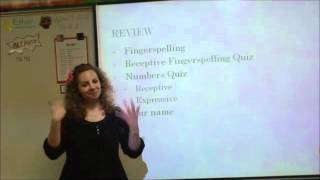 American Sign Language 2 Week Four Introducing Yourself