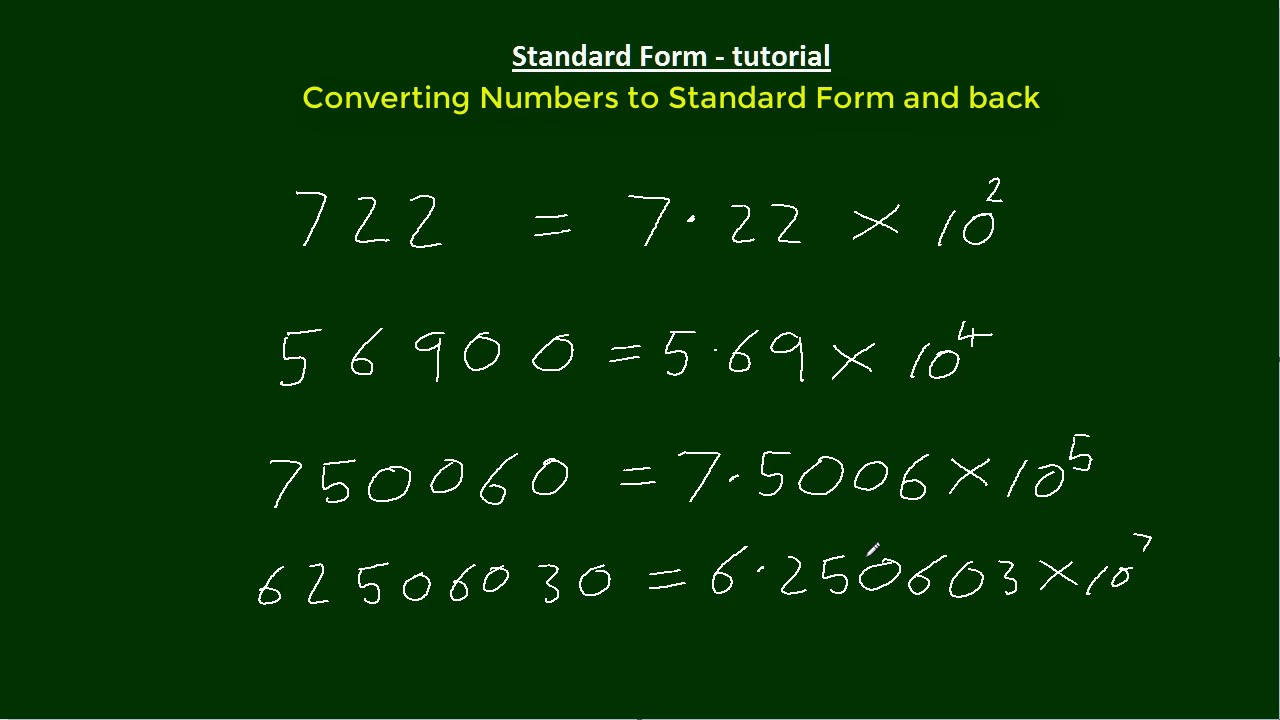 Converting numbers to standard form and back youtube converting numbers to standard form and back falaconquin