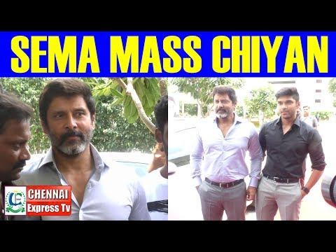 Chiyan VIKRAM SEMA MASS ENTRY At Varma Teaser Launch   CHENNAI EXPRESS