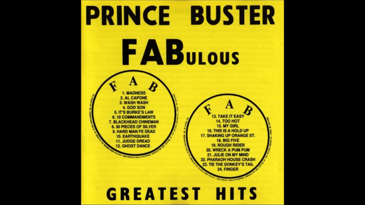 PRINCE BUSTER- FABULOUS GREATEST HITS