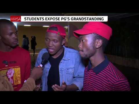 Students expose Pravin Gordhan grandstanding