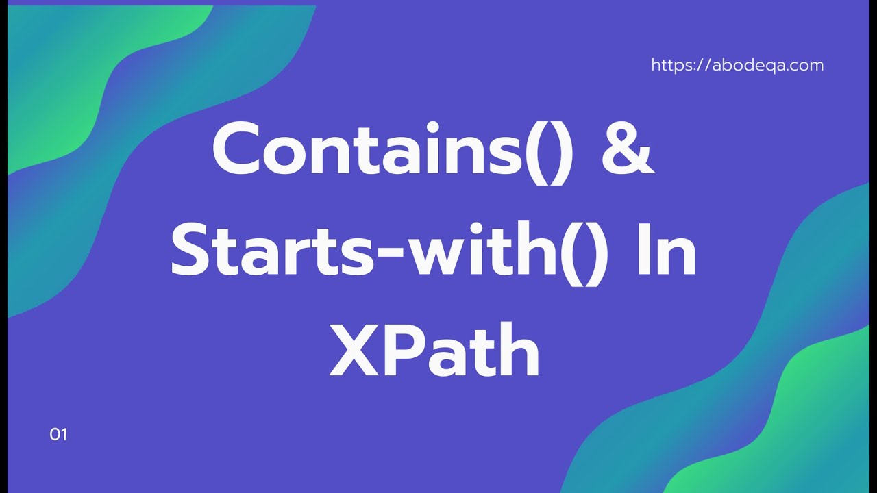 Xpath in Selenium :: Contains() and starts-with() function