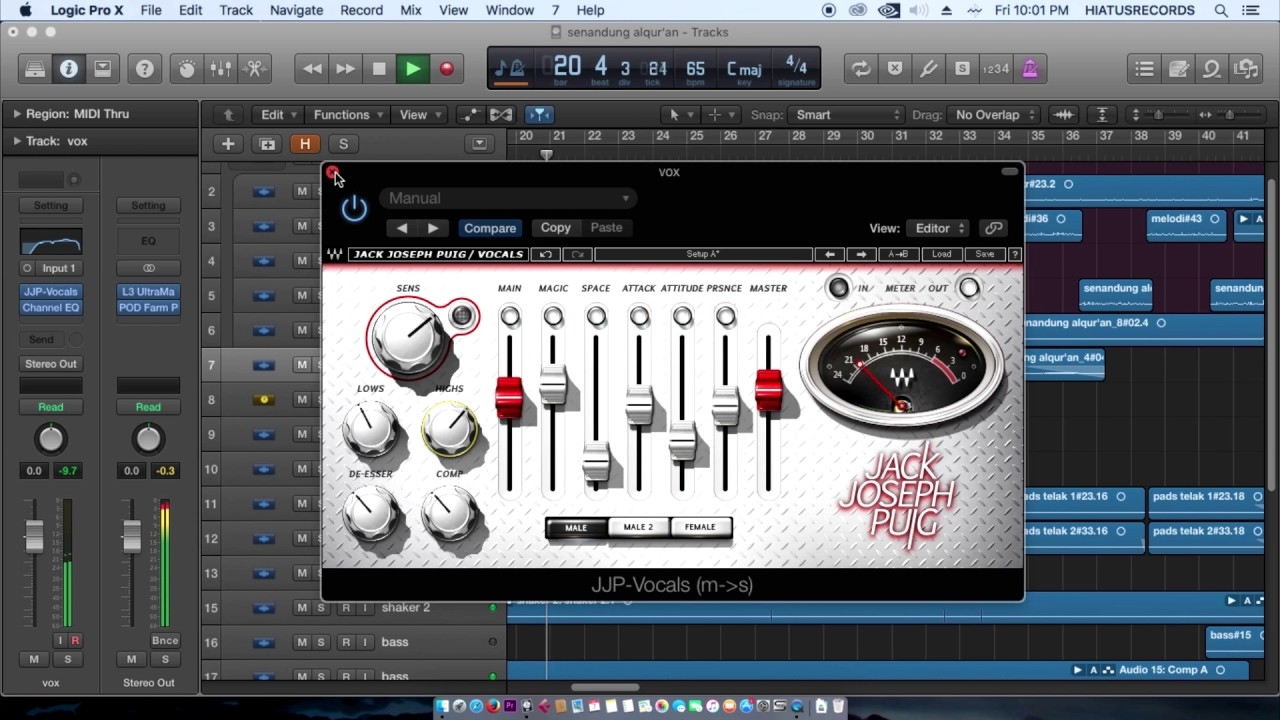 Mixing Vocal: Making Vocal Bright with Waves Plugin in Logic Pro X