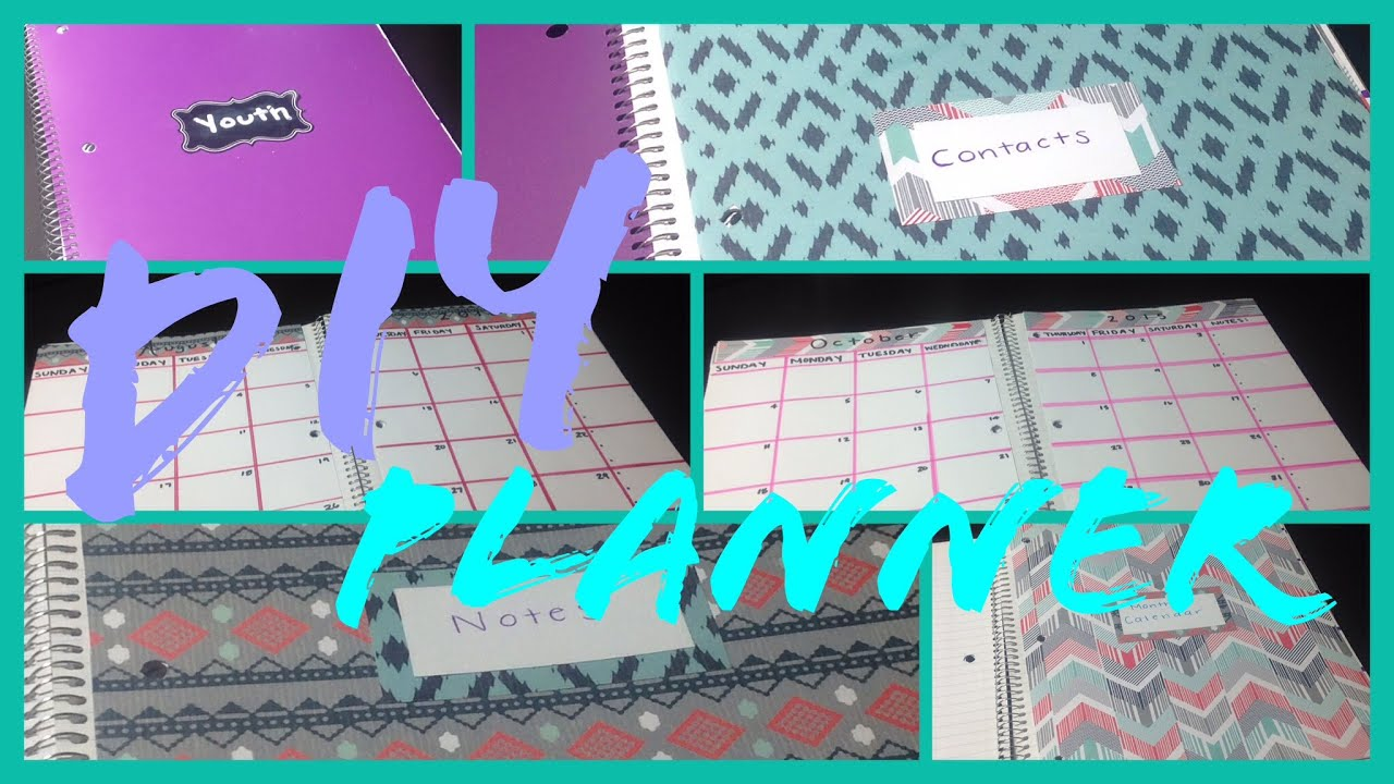 Diy planner in a notebook youtube solutioingenieria Image collections