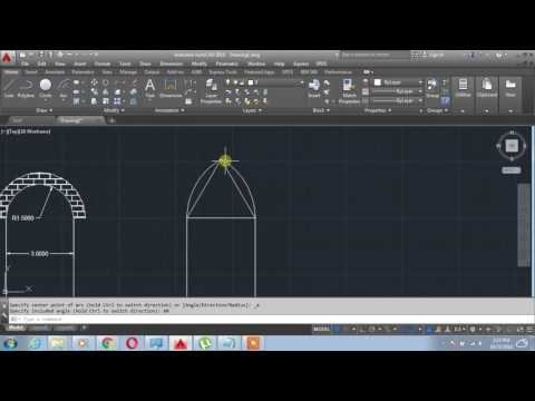 How to Design equilateral Arch on AutoCAD - YouTube