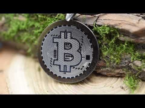 Bitcoin Pendant Bitcoin Necklace * Titanium Cryptocurrency Amulet Bitcoin Jewelry Titanium Bitcoin