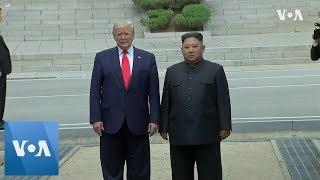 Trump Meets Kim at DMZ, Crosses Into North Korea