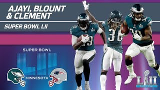 Ajayi, Blount & Clement Rack Up 255 Yards!   Eagles vs. Patriots   Super Bowl LII Player Highlights