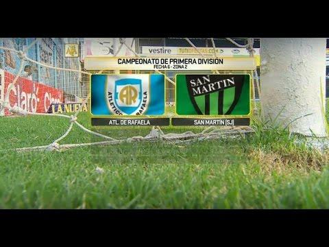 En vivo: San Martín gana su primer partido de visitante ante Rafaela por 2-1