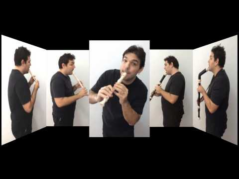 Super Mario World - for recorder quartet - para quarteto de flauta doce