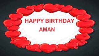 Aman  Birthday Postcards - Happy Birthday AMAN