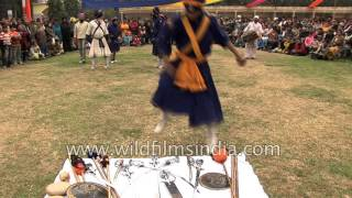 Nihangs dance to drum beat tunes