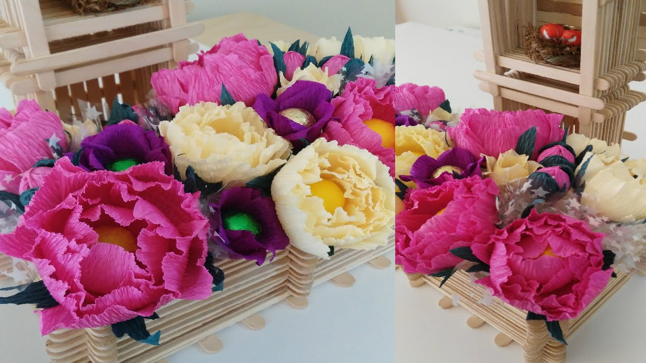 Diy crepe paper peony flower tutorial youtube mightylinksfo