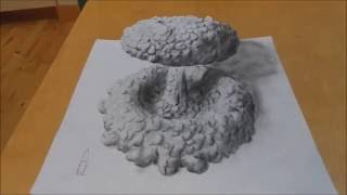 Drawing an explosion of a nuclear bomb - 3D trick art (with my original guitar soundtrack)