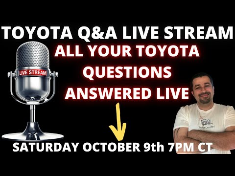 Toyota and Lexus Live Stream Q&A