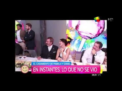 Casamiento de Pamela David y Daniel Vila: Santiago del Moro homenajeó a los flamantes novios