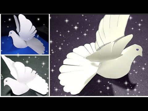 Diy dove/paper craft/Diy craft/art and craft for kids/how to make a bird fom paper/origami bird