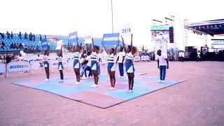 The Lagos cheerleaders at Lagos marathon 2018