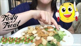 ASMR EATING CRUNCHY SALAD 🥗   Eating Sounds