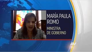 Ministra María Paula Romo en Comparecencia Asamblea - Nota Ecuavisa
