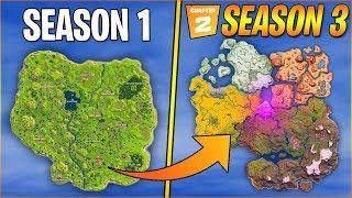 Evolution of Fortnite Map | Season 1 - Season 3 Chapter 2 (Season 13)