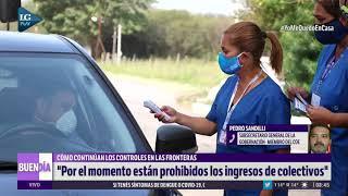 Controles en las fronteras: ratifican que están prohibidos los ingresos de colectivos