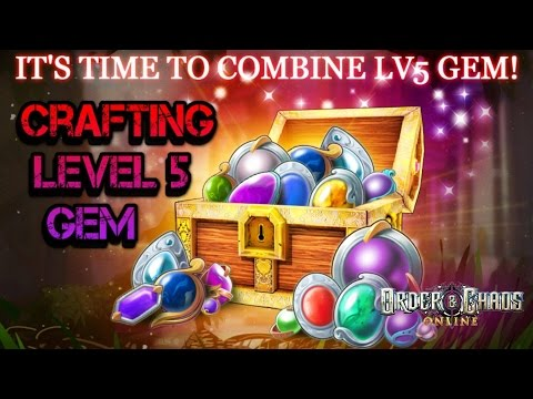 Order And Chaos Online - Crafting Level 5 Gems!