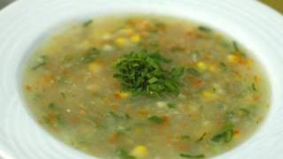 Sweet Corn Vegetable Soup Chef Anupa