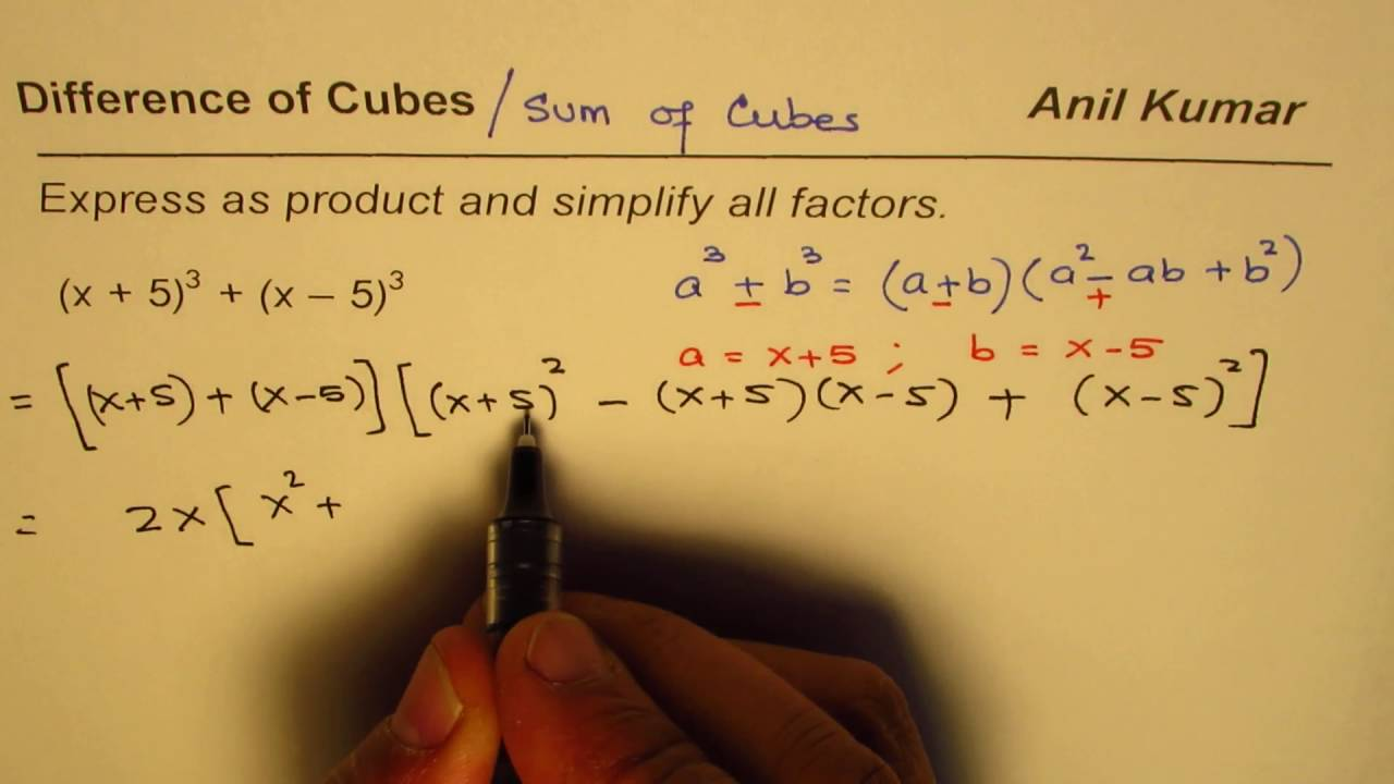 How To Factor Sum Of Binomial Cubes