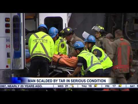 Video: Ministry of Labour investigating after man scalded by tar