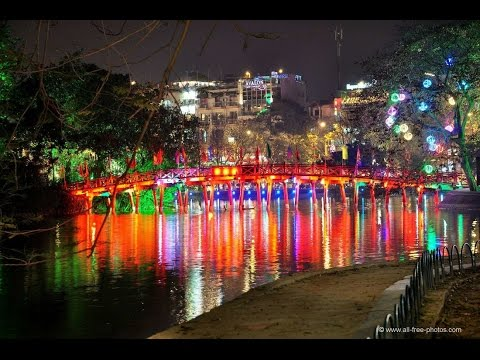Hanoi capital city in Vietnam with busy street road