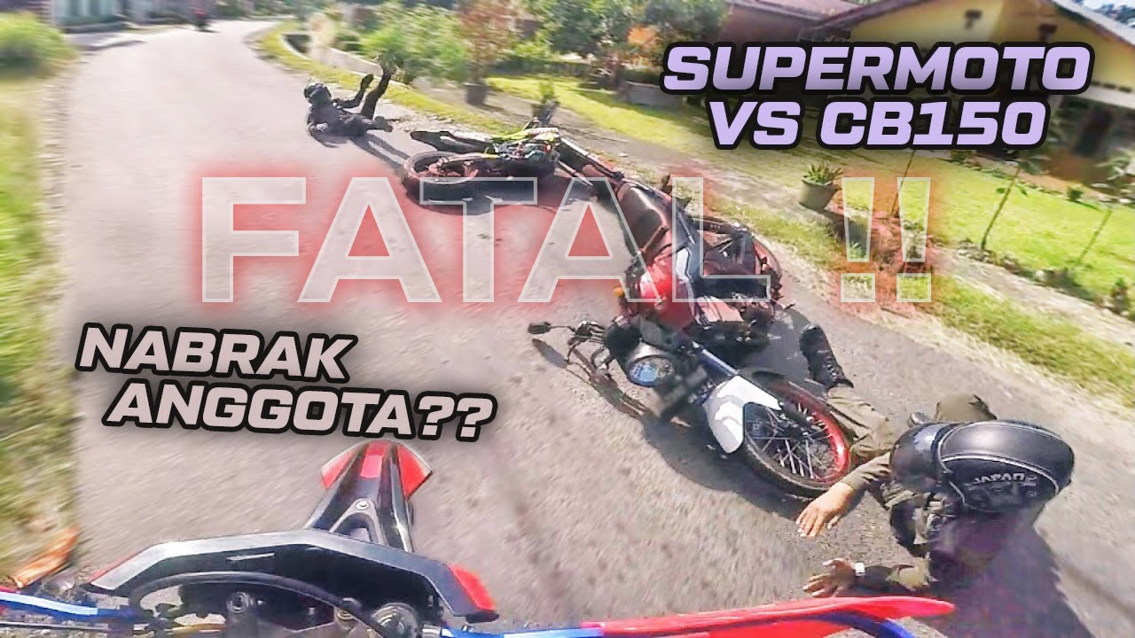 Nubruk Mobil Box Rem Mendadak - Insiden Ninja RR Di Lampu Merah - Supermoto Tabrak Anggota? | RH#101