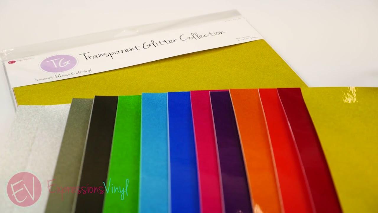 Transparent Glitter Adhesive Vinyl - Expressions Vinyl